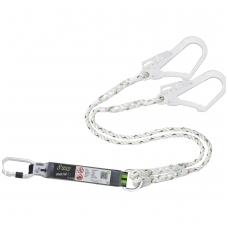 Dvišakis energijos sugertuvas 45 mm su susuktos virvės lynais 1,5 m