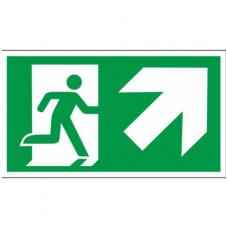 """Lipdukas """"Evakuacinis išėjimas aukštyn į dešinę"""""""