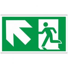 """Lipdukas """"Evakuacinis išėjimas aukštyn į kairę"""""""