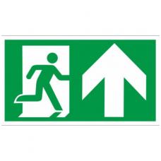 """Lipdukas """"Evakuacinis išėjimas dešinėje į viršų"""""""