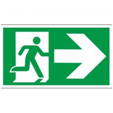 """Lipdukas """"Evakuacinis išėjimas į dešinę"""""""