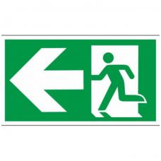 """Lipdukas """"Evakuacinis išėjimas į kairę"""""""