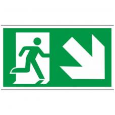 """Lipdukas """"Evakuacinis išėjimas žemyn į dešinę"""""""