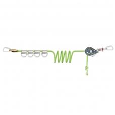 Horizontali austinė gelbėjimo virvė 4 naudotojams (su kryžminiu užraktu)