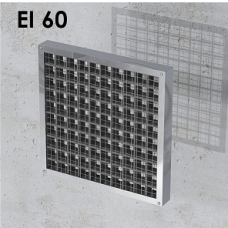 Priešgaisrinės grotelės stačiakampės INTU FR GRILLE EI60