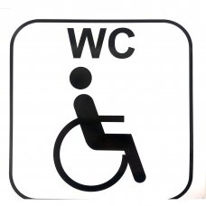 "Lipdukas ""WC neįgalus"""