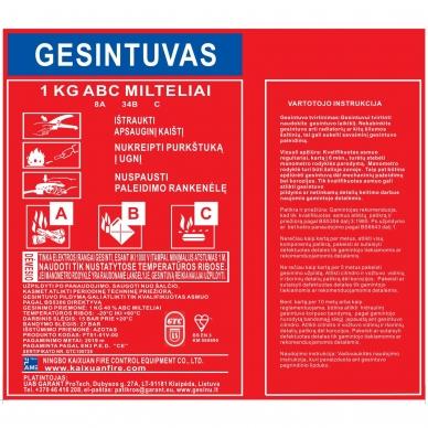Miltelinis gesintuvas 1kg GTC 4