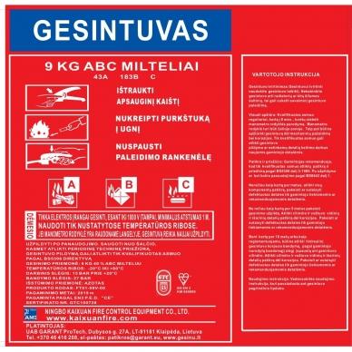 Miltelinis gesintuvas 9kg GTC 4