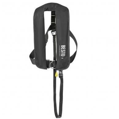 Pripučiama gelbėjimo liemenė Besto juoda 165N Manual/Harness