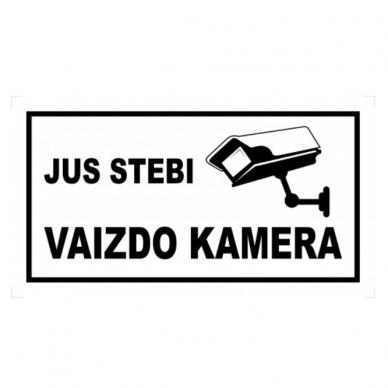"""Saugos ženklas, plastikas """"Jus stebi vaizdo kamera"""""""