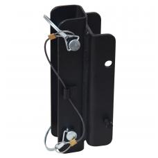 Trikojo montavimo kronšteinas kritimo sulaikymo įrenginiams su integruota gelbėjimo gerve
