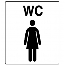 "Lipdukas ""WC moteris"""